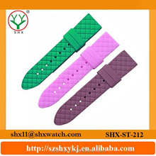 latest fashion style colorful silicone watch strap with cross pattern