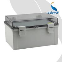 SAIP/SAIPWELL 300*200*170mm Dustproof Clear Hinged Lid Plastic Boxes