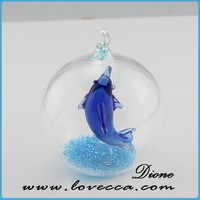Glass Miniature Dome for jewelry display gift for Fish VI