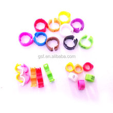 GSF company small size,big size plastic open clip small bird ring for gouldian finch leg band