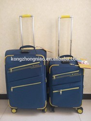 2015 Newly design whole sale fashion designer bags/fashion trolley travel luggage