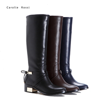 Chendu military riding boots pointed toe metal heel horse riding boots