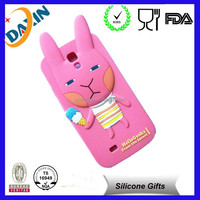 2015 cute animal shape silicone cheap mobile phone case for iphone 5s
