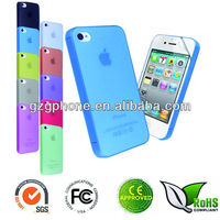 TPU mobile phone cover for iphone 4 case