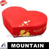 Mountain 2014 new design heart shape chocolate boxes, attractive wedding favor box, wedding gift box