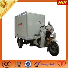 cargo tricycle with cool box for food delivery