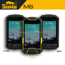 Snopow M6 IP68 waterproof phone with physical button 3.5 inches dual sim card 3g flip phone