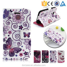 Magnetic Butterfly Flower Print Leather wallet phone cover for Samsung Galaxy s5 i9600,for sam s5 flip pu case