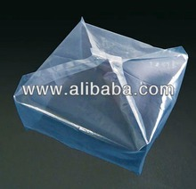 Various types of bottom gusseted plastic pallet cover made in Japan
