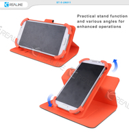 360 degree rotating universal stand leather mobile phone case