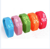 8gb cheapest promotion gift usb2.0 silicone usb flash drive with Led usb watch