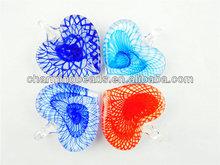 CH-JGP0020 fashion summber jewelry pendant,multicolor lampwork murano heart pendant,glass pendant