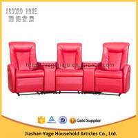 Home theater latest leather sofa design living room red leather sofa