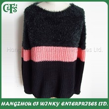 Fashion 100% acrylic new women pullover sweater