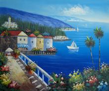 Good quality modern the Mediterranean art oil painting