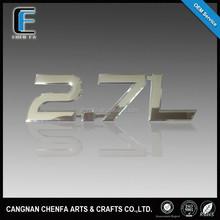 OEM ABS plastic 3D raised chrome badge emblems car alphabet letter sign