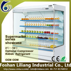 Supermarket fruit and vegetable refrigerators 2~8 degree