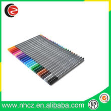 0.4MM triangular fine liner pen assorted 24 colors
