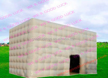5x5x5m Commercial use white inflatable cube tent for trade show for sale