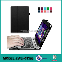 tablet PC cases for Acer Switch 10E SW3-013, leather stand case with pen holder and handstrap