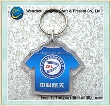 t shirt key chain hook/keychain/alphabet key chain