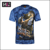 2015 New Style America USA 3d hunde t shirt with good quality