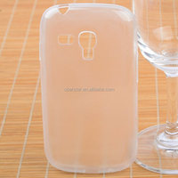 Newest Ultra TPU Transparent Clear Gel Case Skin Cover For Samsung Galaxy S3 mini i8190 with Matte Inner