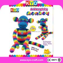 Beautiful colorful Monkey plush soft toy