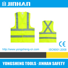 JINHAN fluorescent fabric for reflective vest,yellow safety reflective vest