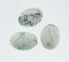 high quality oval howlite cabochon gemstone, natural howlite gemstone cabochon
