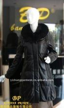 Ladie's winter down jacket/long overcoat