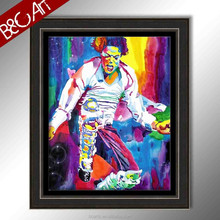 incredible colored stunning Michael Jackson dancing bars wall painting