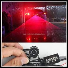 Red Car Led Laser Fog Light Rear Anti-Collision Brake Tail lights Warning Lamp