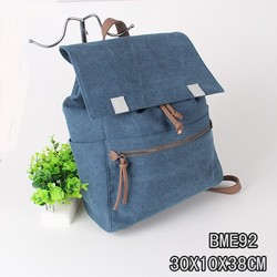 fashionable canvas military backpack hiking backpack