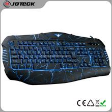 2015 the latest 3 colors LED light crack backlit professional gaming computer keyboard---JK666