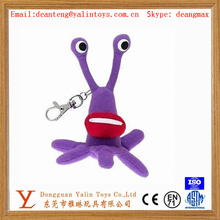 Soft plush toys mini toys keychain with nickel free carabiner