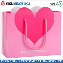 2015 hot sale pink gift bag 210g art paper