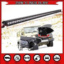 51INCH 250W LED Driving Work Light Bar Spot Flood Combo Beam Offroad Light 12V 24V For Truck 4WD 4X4 SUV CAR Light