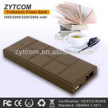 2015 new products 2800mah mobile power bank with 70% conversion rate for mobile phone x video