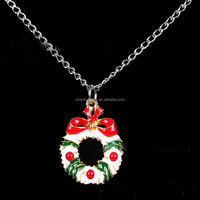 SDL001 Fashion Christmas necklace with Oil drop(epoxy) necklace christmas shop jewelry promotion trend christmas gift