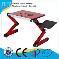 Folding adjust laptop table on bed with laptop cooler Ergonomic Design