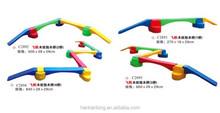 Child single-plank bridge,Kids toy balance beam