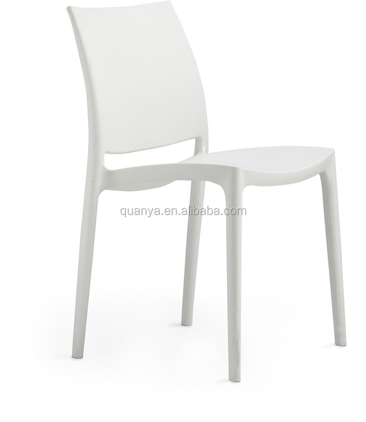 Wholesale Colored Solid Plastic Restaurant Chair Stacking
