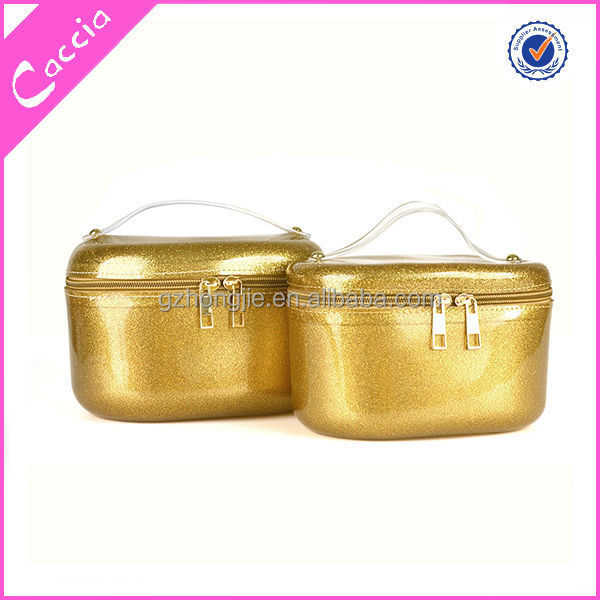guangzhou wholesale lady storage zipper bag in box/case with handle manufacturer