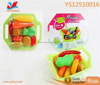 New style magical basket toys ,whosale cute and durable toy basket, magic shopping basket with vegetable
