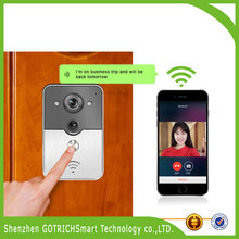 2015 new product home security system peephole door wifi camera