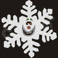 Christmas Snowflake Hot-fix Holofoil Motif
