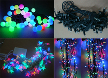 Rubber Cable and PVC Cable LED String Light for Indoor and Outdoor Holiday Decoration,Kinds of Color for Choose