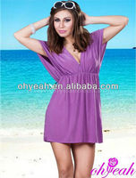 Hot!! V-neck sexy bikini wrap cover ups wholesale paypal accept ladies beach dress
