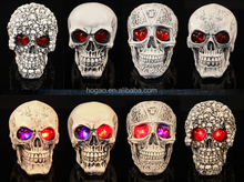 polyresin crafts led skull head Halloween horror decoration